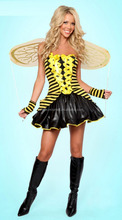 halloween carnival adult teen sexy queen bee costume for theme party