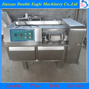 High performance commercial Frozen meat block cutting machine/fresh mutton dicing machine