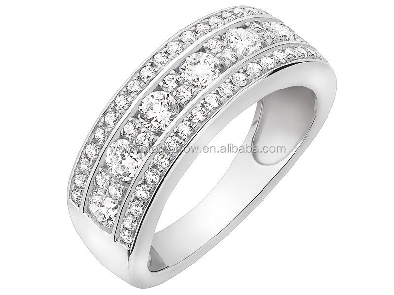 Wholesale CZ ring rhodium plated 925 silver jewelry