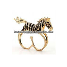 The Unique design surgical steel horse head ring Made in China