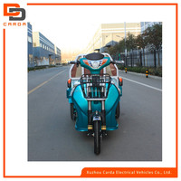 electric delivery tricycle with open carbin/ motor drived cargo with 3 wheel/ battery operated heavy loading vehicle