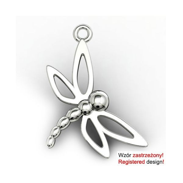 925 Sterling Silver Dragonfly Charm