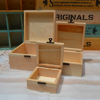 Unfinished Pine Wood Box&Case Product Type and Europe Regional Feature Round Small Cute Wooden jewelry packaging Boxes