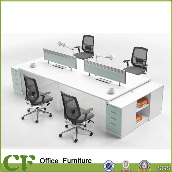 Wholesale fashion office desk Al frame with MDF and stationery groove