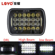 "Top sale 72W led headlamp square 5D 7 inch 5x7"" 7x6 led headlight for Jeep truck offroad"
