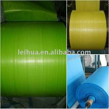 Manufacture pp green woven fabric in roll