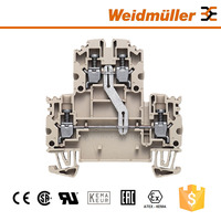 Weidmuller WDK 2.5N V Two Way Screw Terminal Block Electrical Connector.