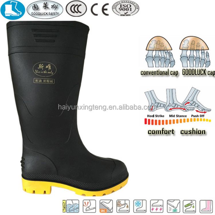 men pvc safety gumboots wholesale unisex industry boots brand name shoes