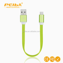 Factory supply 20cm Flat Noodle Micro USB Data Sync cellphone Cable for Samsung and for iPhone 56