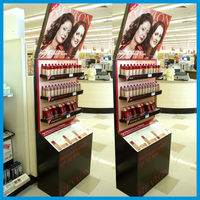 Advertising custom corrugated cardboard display case for skin care sale