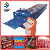 steel type red roof tile roll making machine, hot sales glazed tile roll forming machine