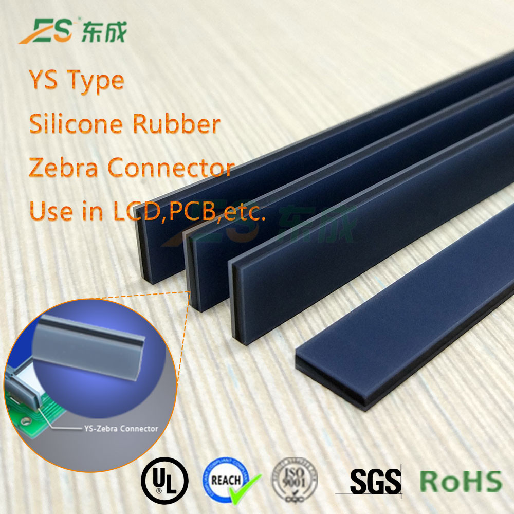 OEM Meets Rohs Low Resistance Silicone LCD Elastomer Strip