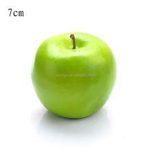 70mm big Polystyrene foam artificial green apple fake home festival decoration fruit and children DIY same big as real apple