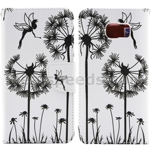 Wallet Magntic Flip TPU + PU Leather Stand Case for Samsung Note 5 N9200 - Dandelion/Eyes/Flower/Dream Catcher
