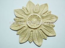 New style decorative hand carved solid wood appliques (EFS-A-ON10)
