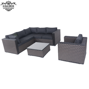 modern  outdoor rattan furniture  wicker sofa set  couch living room  for terrace