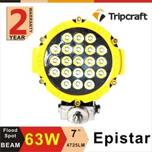 Factory direct 63w led driving lights round 7 inch for off road with cheap price