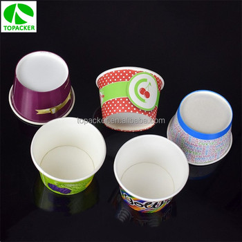 Custom offset print pe coated paper yoghourt cup