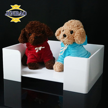 JINBAO Customized Luxury Beds Acrylic Pet Bed For Dogs Or Cats Clear Black Cushion Available