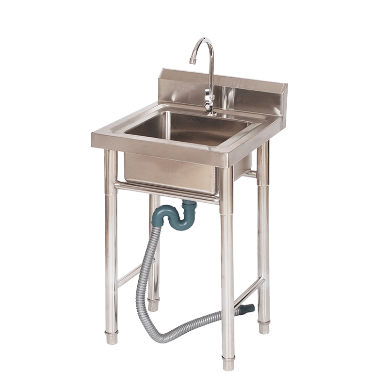 Stainless Steel Brushed Kitchen Hand Wash Basin Sink Stand In China Buy Portable Sink Sink With Stand Commercial Sink Product On Alibaba Com