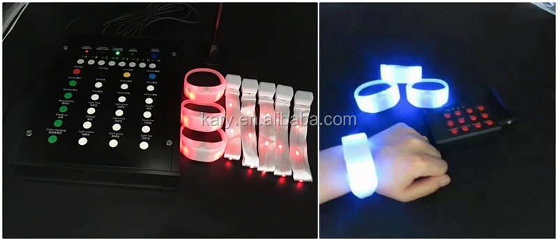 Wholesale LED Flashing Bracelet Via Remote Controlled LED Bracelet