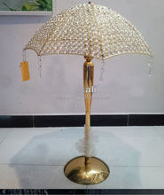 UB562 Wholesale table centerpieces Crystal umbrella for wedding for outdoor decoration