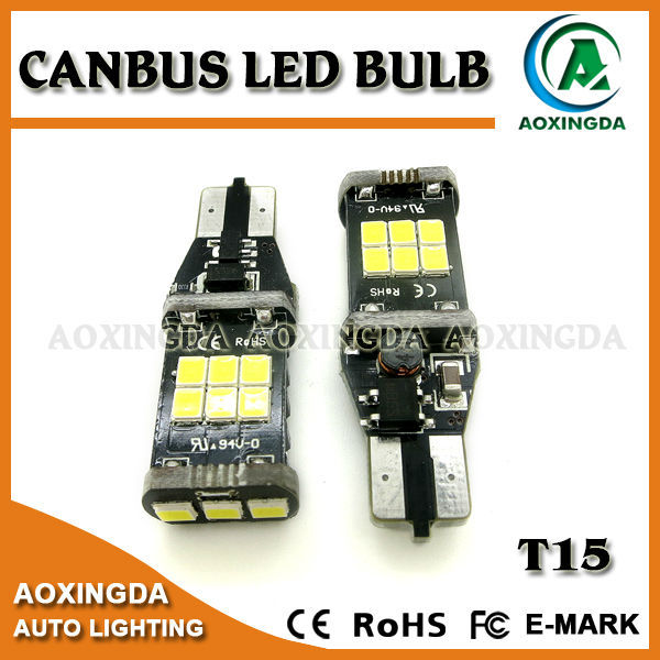 15W high power CANBUS error free T15 921 LED auto bulb