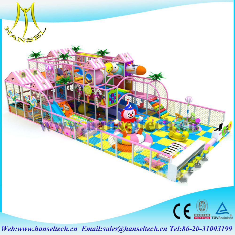 Hansel large size kids soft indoor playground business for sale naughty castle