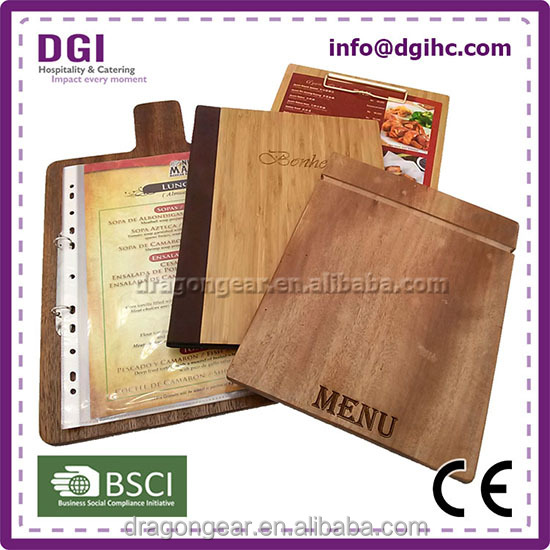 wood cover high quality metal spring clip for paper menu board kfc