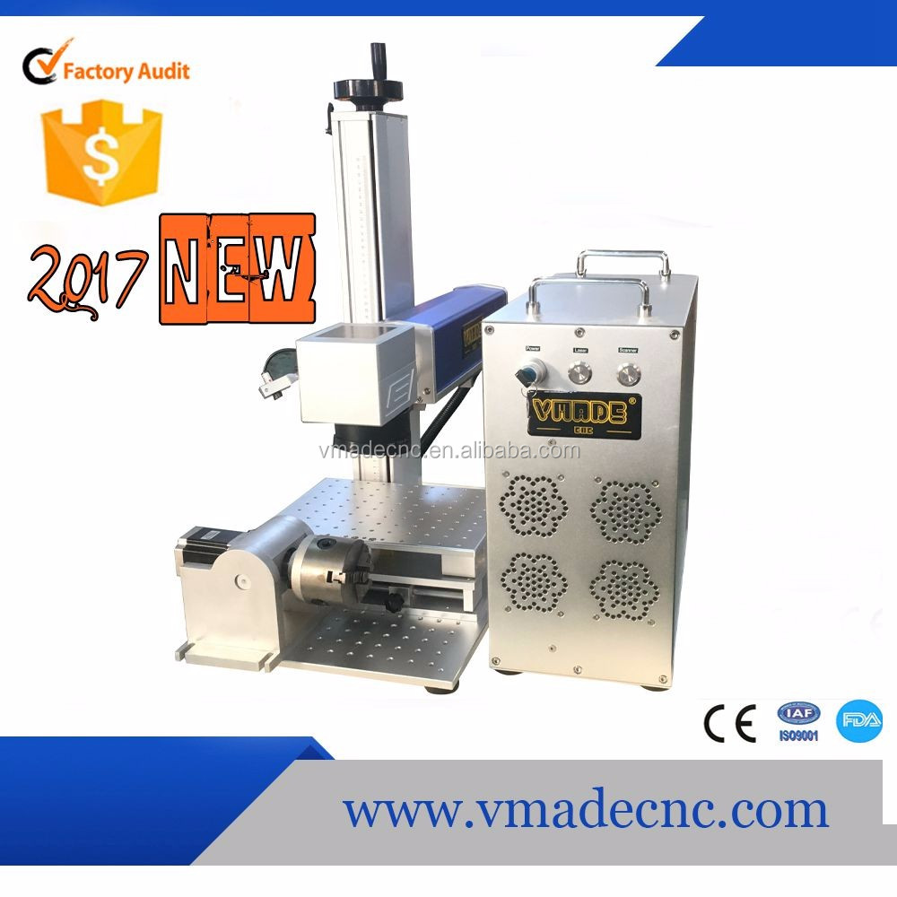 20W Raycus Laser source Fiber Laser Marking Machine For Metal with CE FDA