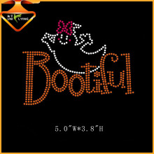 Funny Small Ghost Boo Rhinestone Transfer Design Iron On Letter And Words For Garment