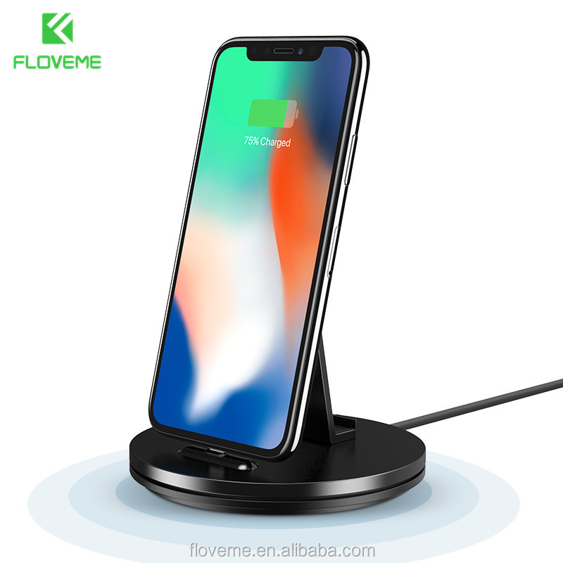 FLOVEME 2 in 1 Desktop Charger Phone Holder for iPhone 7 8 6 plus Multifunction Charger Dock Small Holder Stand for iPhone iPad