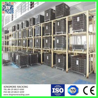 Galvanized collapsible stackabe steel wire mesh cage/container