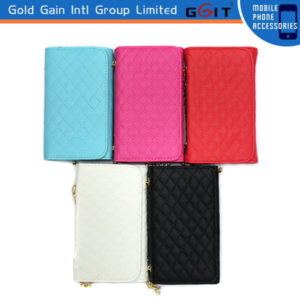 Luxury Shoulder Chain Bag Style Case For Samsung S3 i9300, Leather Case Cover For Galaxy S3