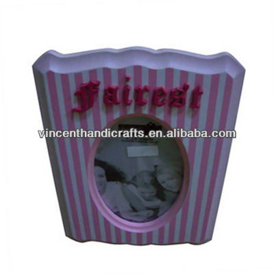 Alibaba hot sell pink chip photo frame with words for freinship gift
