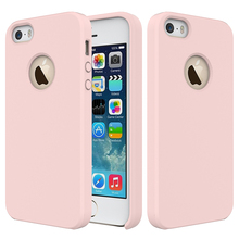 Slim Liquid Silicone Gel Rubber Shockproof Cover Case For iPhone 5/5S/SE with Soft Microfiber Cloth