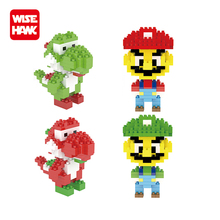 New 160 pcs plastic nanoblocks action figure toys super mario for wholesale