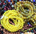 Handmade Natural Precious Gemstone Smooth Round Loose Beads Stretchy Bracelet Agate Stone Beaded Bracelet with Elastic