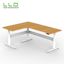Best Executive Office Manual OEM Avalaible L Shaped Electric Adjustable Sit Stand Desk