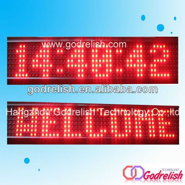 Brand new outdoor led clock time date temperature sign with CE certificate