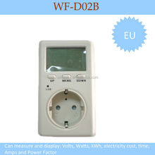 New arrival digital energy-saving monitor measuring Volt, Watt, Amps, kWh, $, current, power factor & time