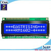 monochrome dot matrix 160x160 screen, Monochrome dot segment character of 16x2 lcd character display
