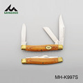 2014 new design pocket knife with wood handle