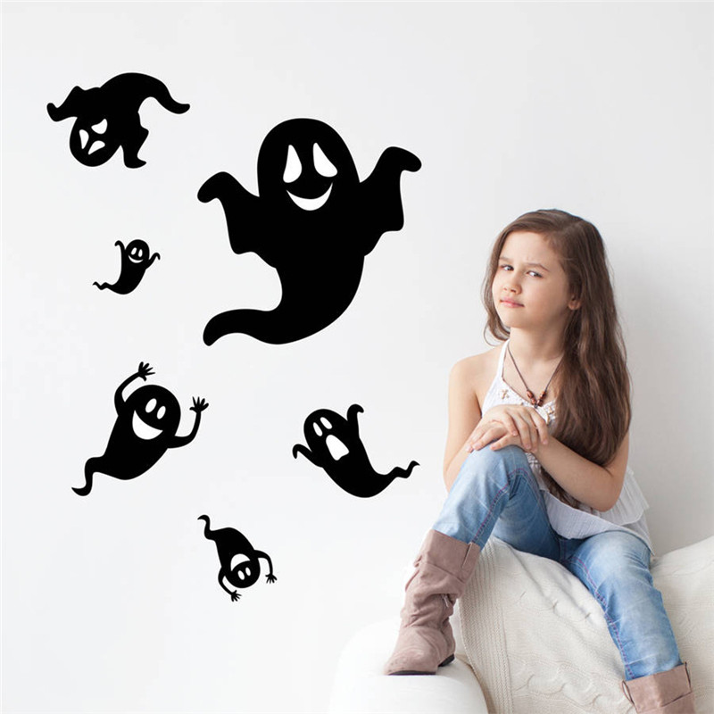 Get Quotations · Ghost Wall Sticker Bedroom Adesivo De Parede Infantil  Festival Art Halloween Wall Decor Creative Solid Ghost