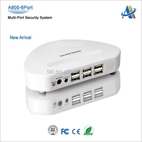 Multiport security solutions for mobile phone cell phone tablet security alarm display in retail store A800