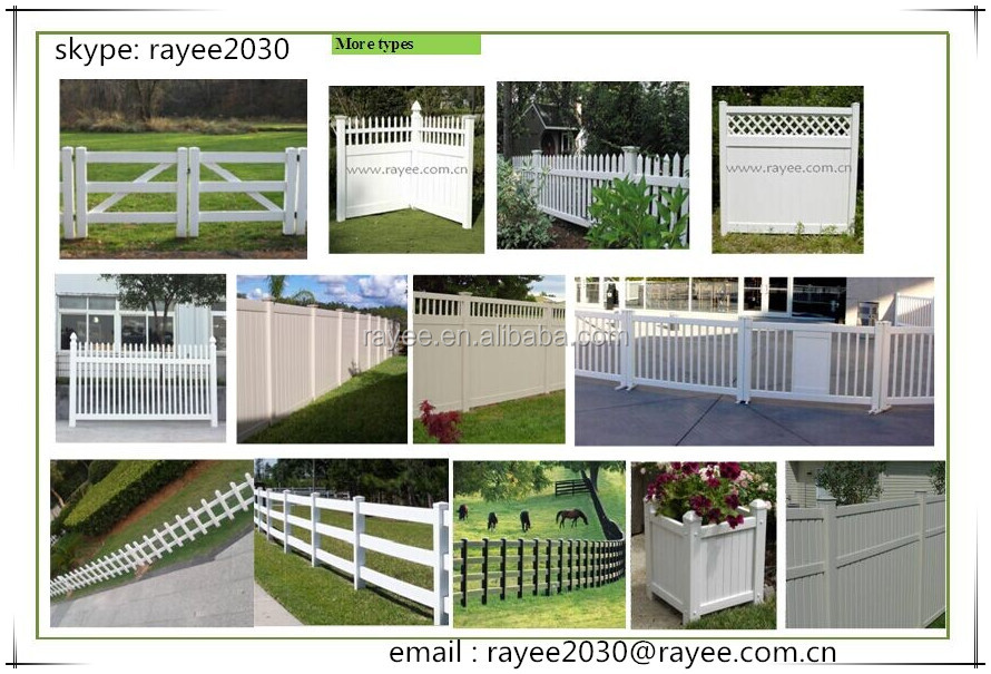 Easily Install ASTM Certified 20 Years Lifetime UV Proof Vinyl PVC Fence Panels