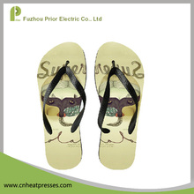 2017 Classic Summer Beach Footwear Slippers Blank Sublimation Printed Flip Flops