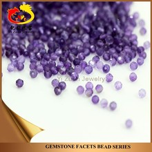 Big quantity store selling facets bead natural amethyst