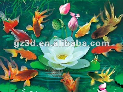 PET material 3d picture animal animation of fish oil painting pictures of flowers (1006)
