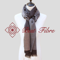 High count check plaid shawl/scarf 100% for wholesale